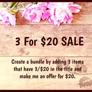 🌻SALE! Anything below $10.00 is now 3 for $20🌻